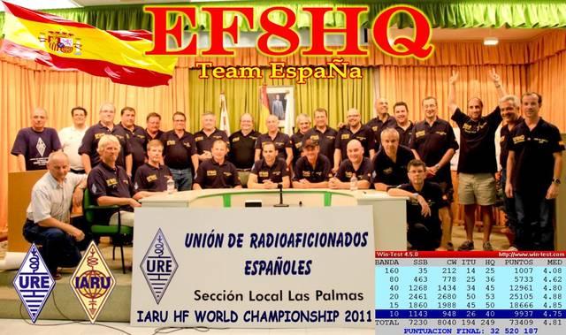 Foto de los componentes de EF8HQ