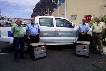 URE ARIDANE – El gobierno de Canarias dona 2 repes VHF y 2 enlaces UHF