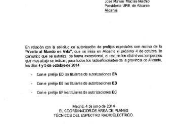 URE Alicante – Volvo Ocean Race 2014 Indicativos especiales