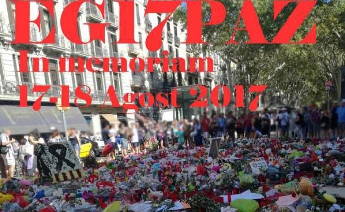 Actividad en memoria víctimas atentados Barcelona y Cambrils 2017