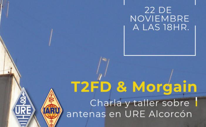 Charla y taller sobre antenas en URE Alcorcón