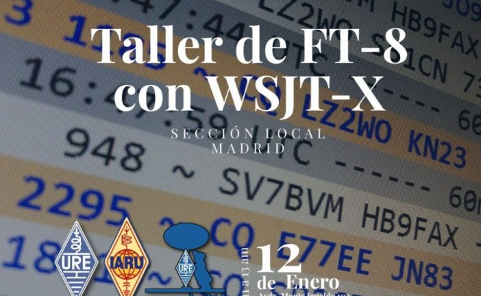 Taller de FT8 con WSJT-X en URE Madrid