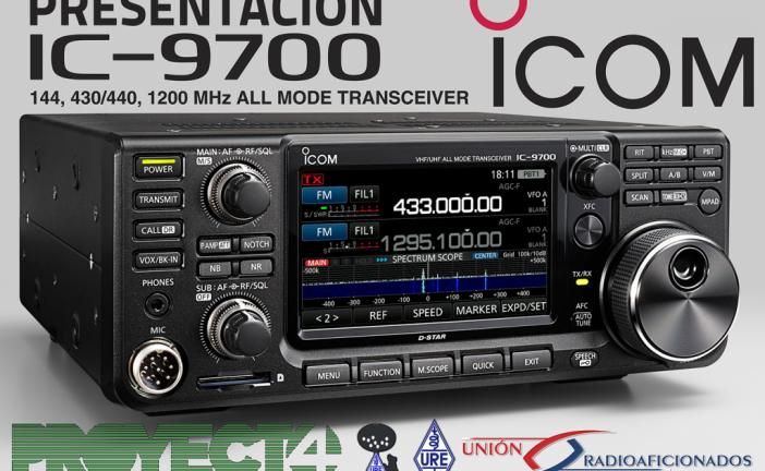 Presentación del IC-9700 en S.L. URE Madrid