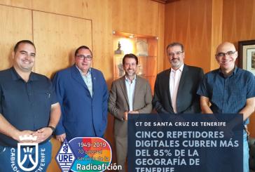 Cinco repetidores digitales cubren más del 85% de la geografía de Tenerife