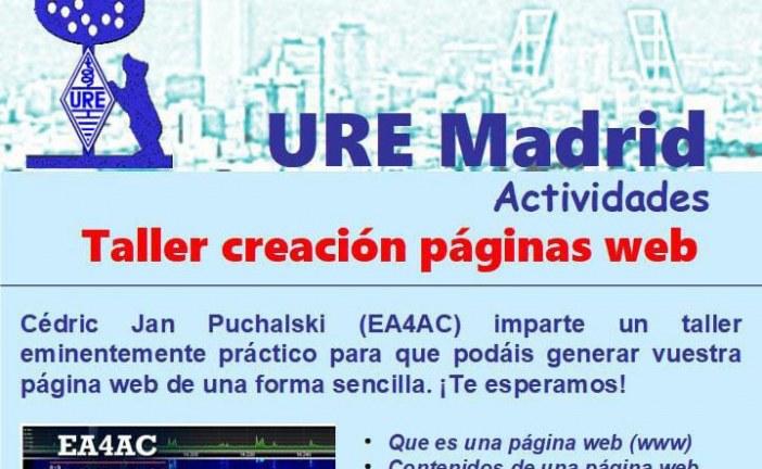 Taller creación páginas web en URE Madrid