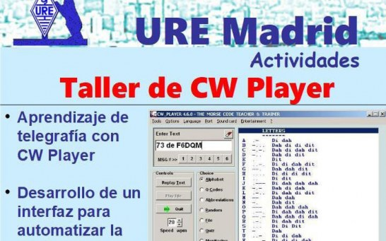 Taller de CW Player en S.L. URE Madrid