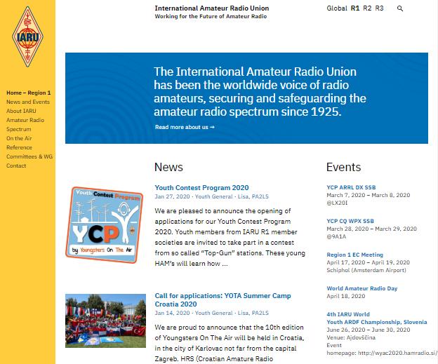 Nueva web de la IARU