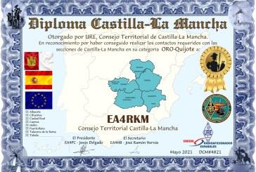 DIPLOMA  CASTILLA-LAMANCHA,  en Mayo
