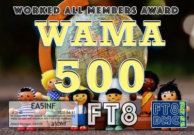 EA5INF WAMA 500 FT8DMC