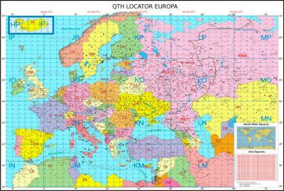 MapEuropa QTHLocator ea2cw m
