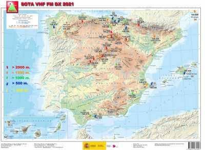 Sota VHF MAP & Freqs